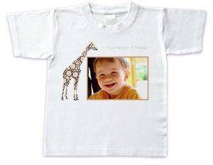 Lasten t-paita valokuvalla